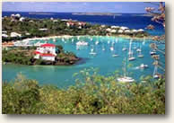St. John US Virign Islands harbor sailing itinerary