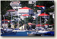 Itinerary St. Thomas Harbor, USVI sailing cruise destination