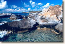 Virgin Gorda Baths, BVI sailing vacation itinerary crewed yachts