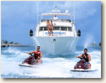 wave runners on motor yacht charter