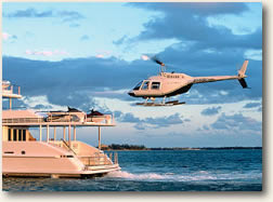 Helicopter pad on Luxury Mega Yacht Charters