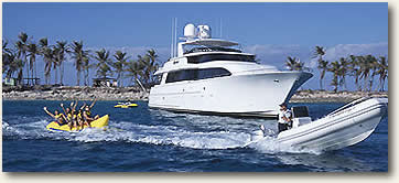 water toy fun motor yacht charter vacation
