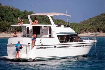 bareboat power boat charter