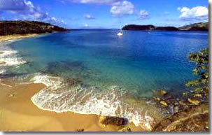 Caribbean Beach Yacht anchorage Antigua Sailing Charter