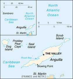 Anguilla map St Martin Sailing Yacht Charter Itinerary