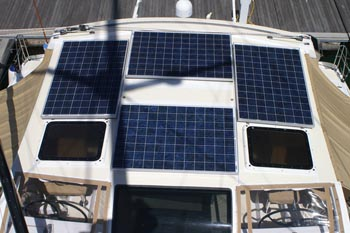 Yacht charter 42 solar array