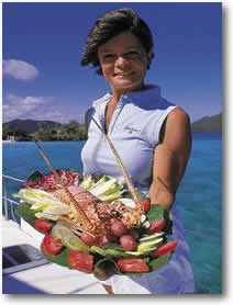 Crewed yacht charter chef