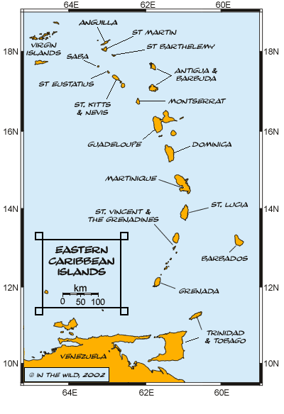 Eastern Caribbean Map Caribbean Sailing Vacations Motor Yacht Charter Destinations