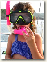 snorkeler family sailing vacation package