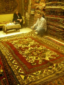 Turkish rug shop